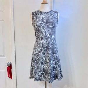Tahari Gray Work/Party Summer Dress Medium